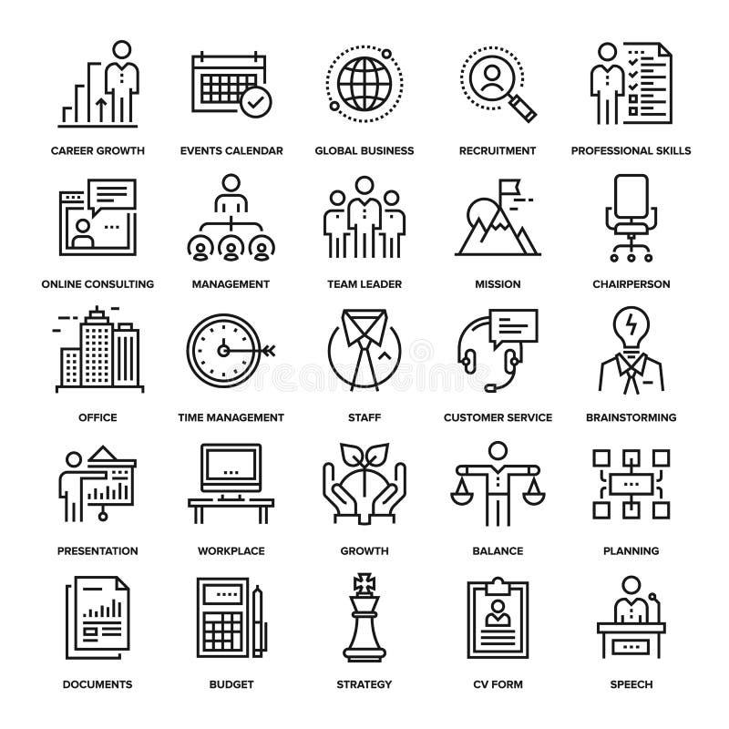 Collectieve Bedrijfspictogrammen stock illustratie