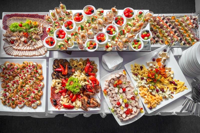 Collectieve buffetlijst stock fotografie