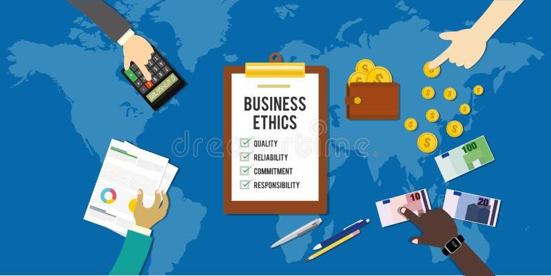 Collectieve concept van het bedrijfsethiek het ethische bedrijf stock illustratie