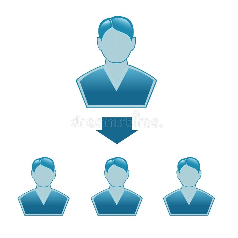 Collectieve hiërarchie stock illustratie