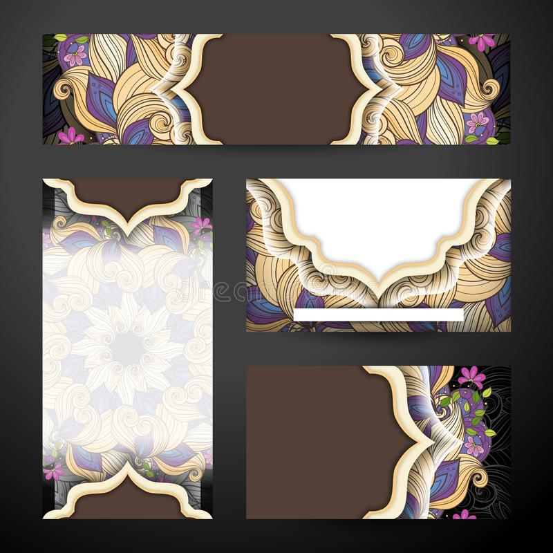 Collectieve Identiteitsreeks Bloemenmalplaatjes royalty-vrije illustratie