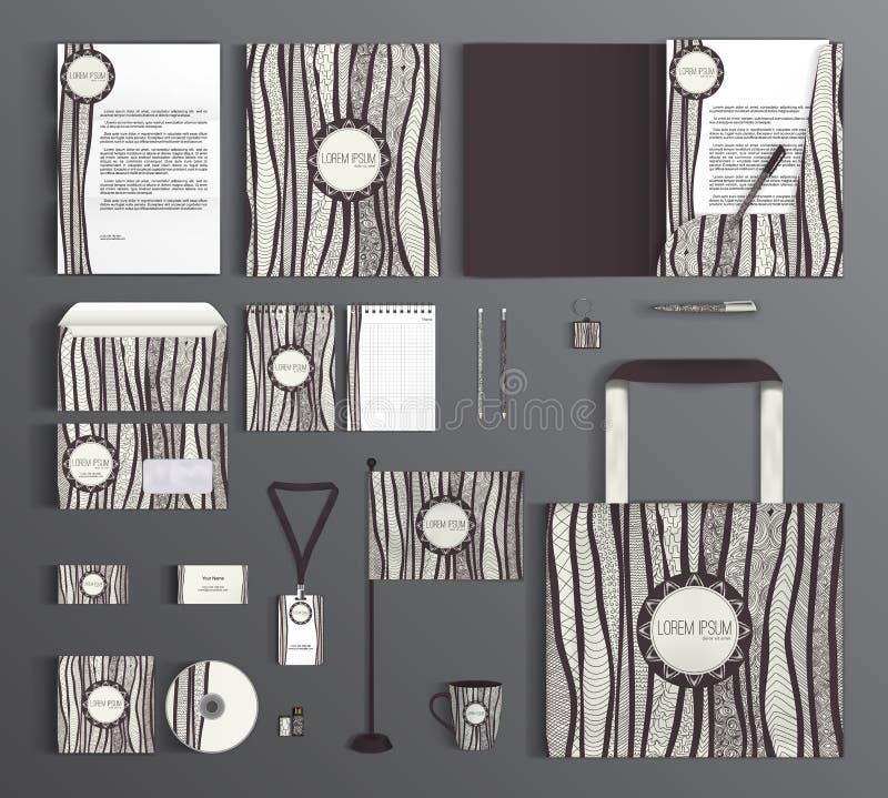 Collectieve Identity Reeks met krabbels vector illustratie