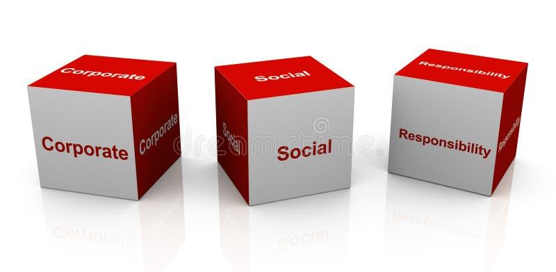 Collectieve sociale verantwoordelijkheid royalty-vrije illustratie