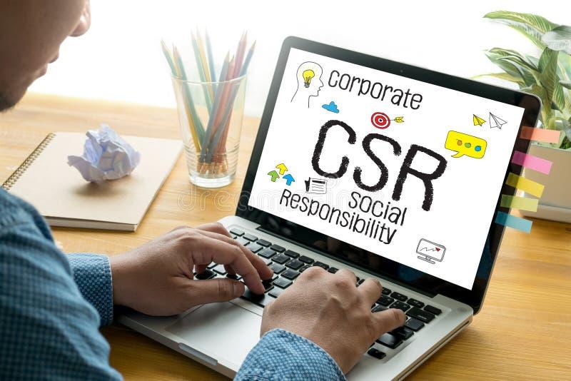 Collectieve Sociale Verantwoordelijkheid CSR en Duurzaamheid Respon royalty-vrije stock foto