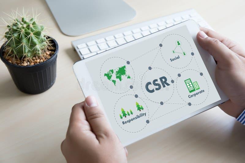 Collectieve Sociale Verantwoordelijkheid CSR en Duurzaamheid Responsib royalty-vrije stock foto