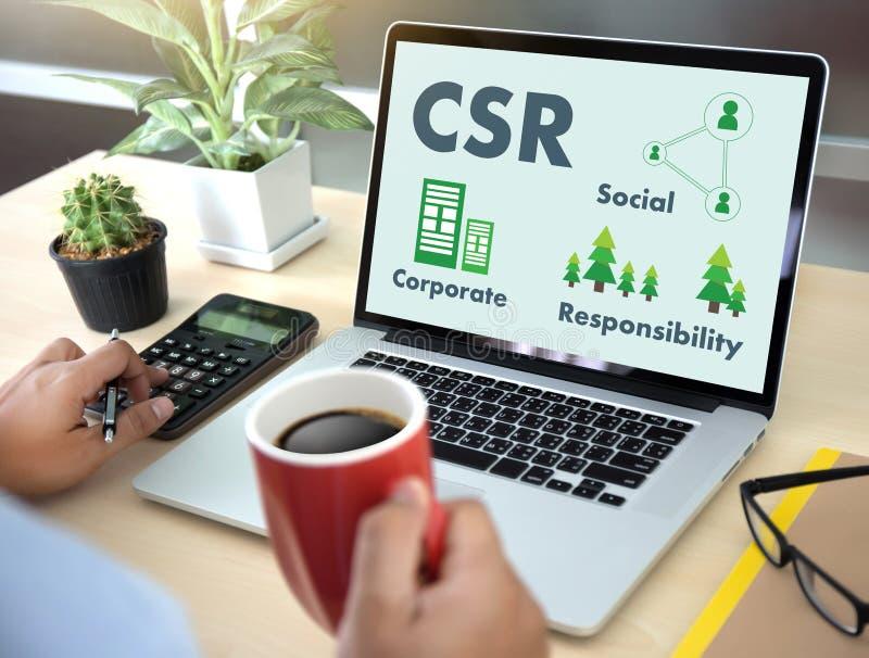 Collectieve Sociale Verantwoordelijkheid CSR en Duurzaamheid Responsib stock foto's