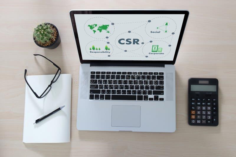 Collectieve Sociale Verantwoordelijkheid CSR en Duurzaamheid Responsib stock foto