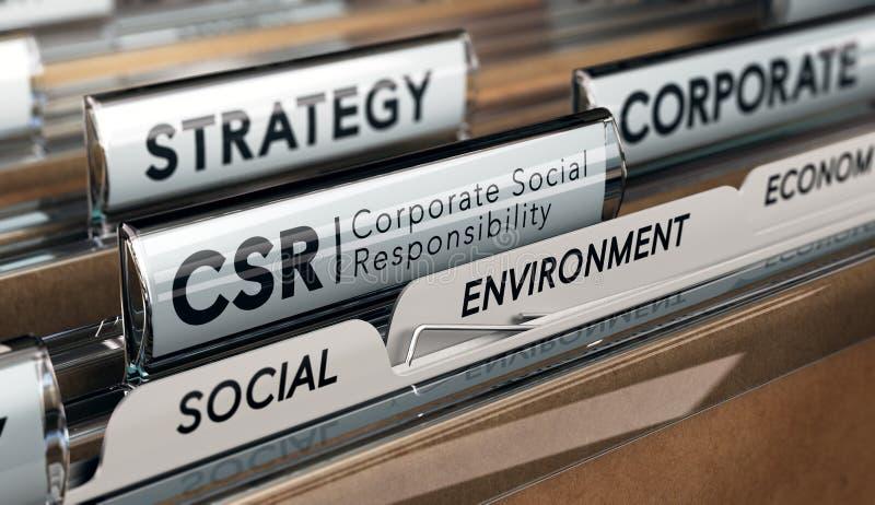 Collectieve Sociale Verantwoordelijkheid, CSR-Strategie stock foto's