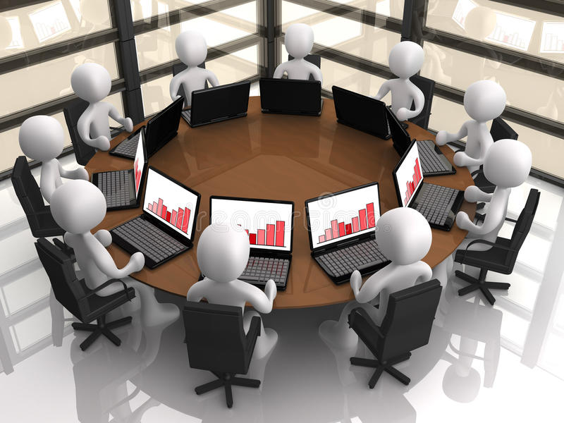 Collectieve Vergadering vector illustratie
