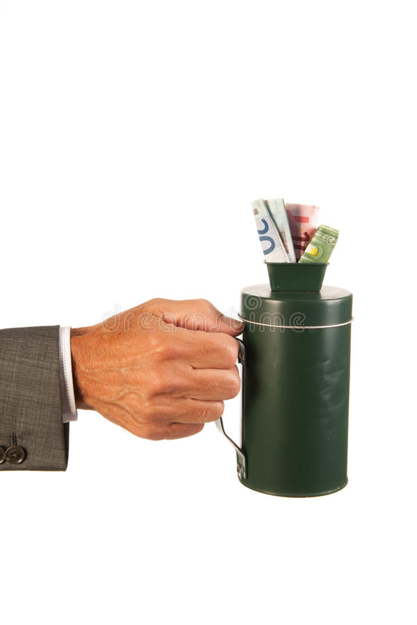Collecting Money Stock Image