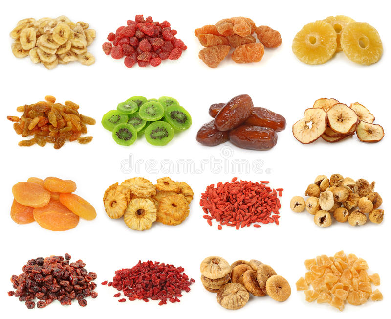 Collectio secado das frutas foto de stock royalty free