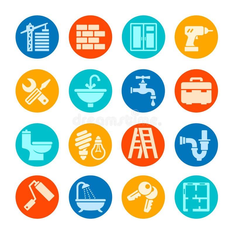 Collection à la maison d'icône de réparation illustration libre de droits