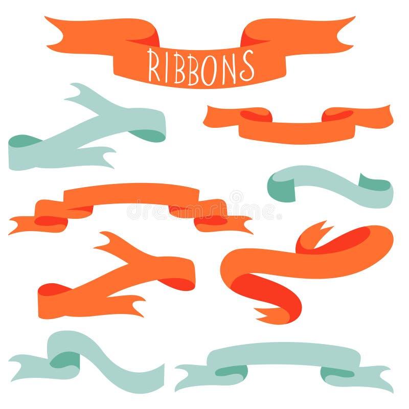 Collection élégante de rubans illustration stock