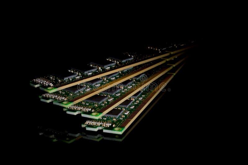 Collection électronique - mémoire à accès sélectif d'ordinateur et x28 ; RAM& x29 ; modu image stock