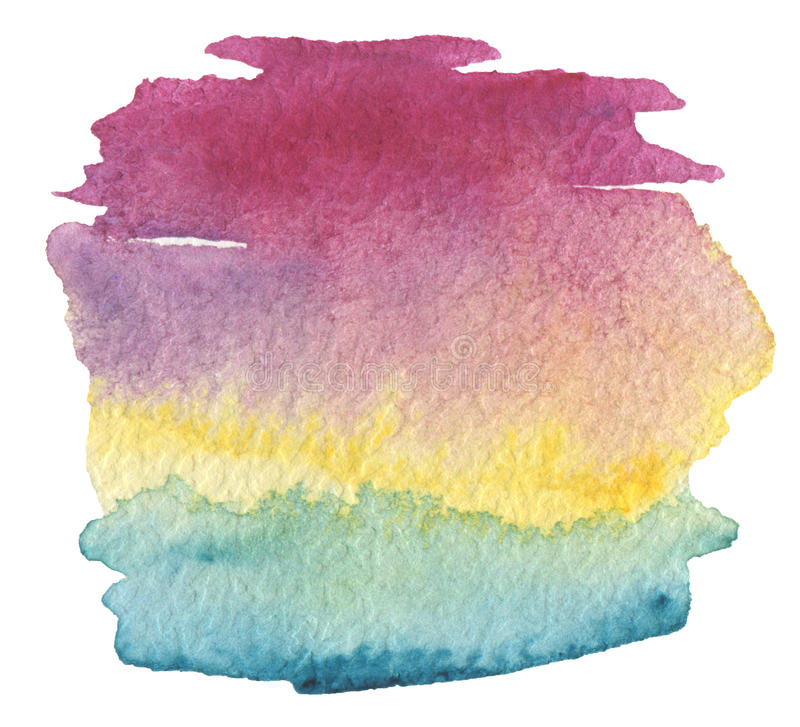 Collection of abstract acrylic color brush strokes blots. stock photos