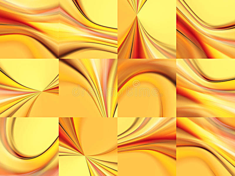 Collection of abstract backgrounds stock illustration