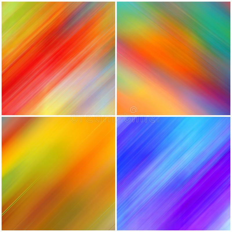 Collection of abstract colourful background. Long exposure effect. Motion blurred stock photo