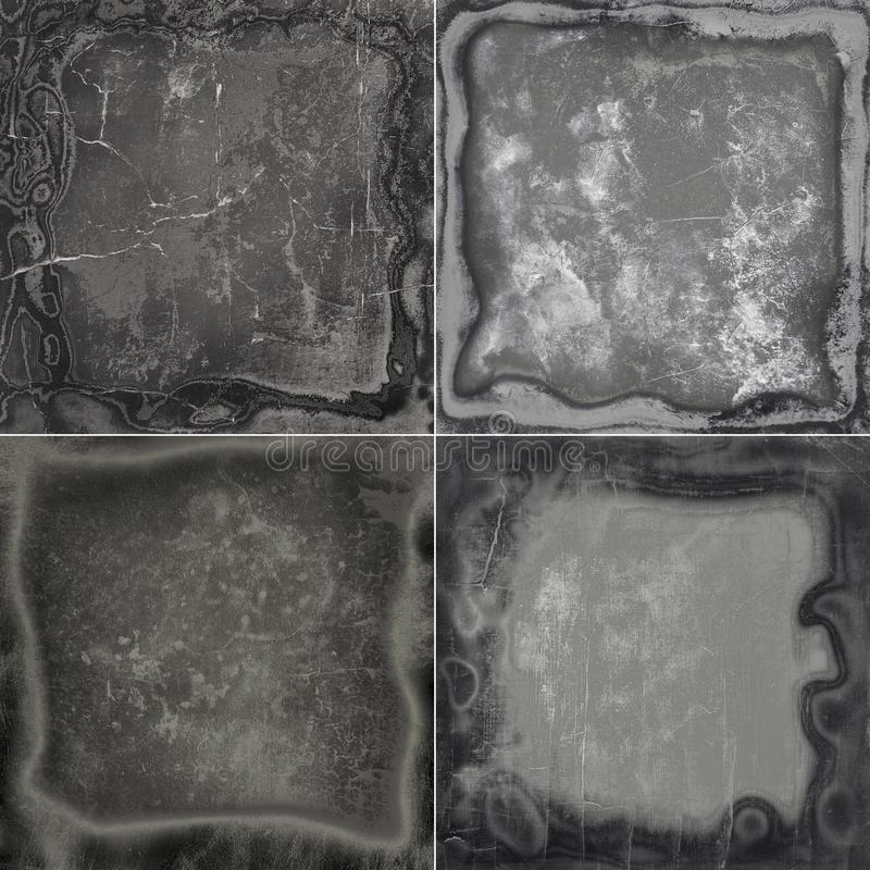Collection abstract grunge frame textures stock images