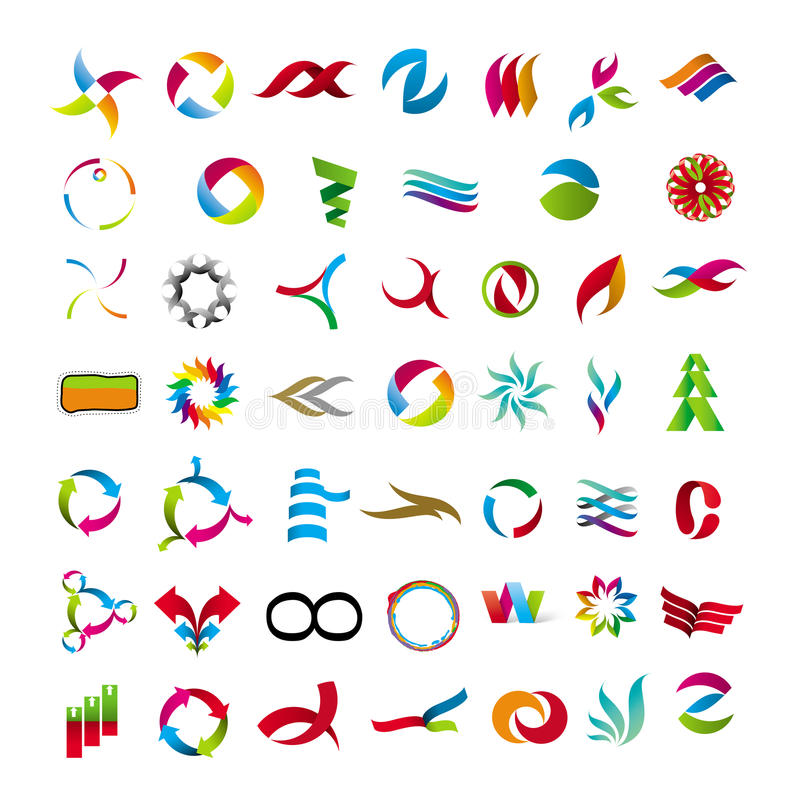 Collection of abstract icons royalty free illustration
