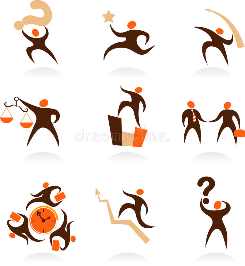 Download Collection Of Abstract People Logos - 8 Stock Vector - Image: 12805755