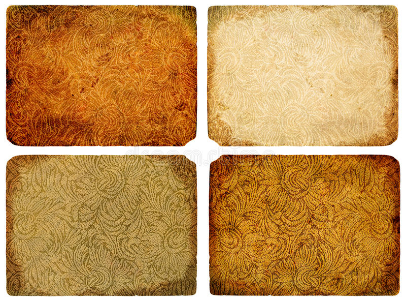 A collection of abstract vintage background. royalty free illustration