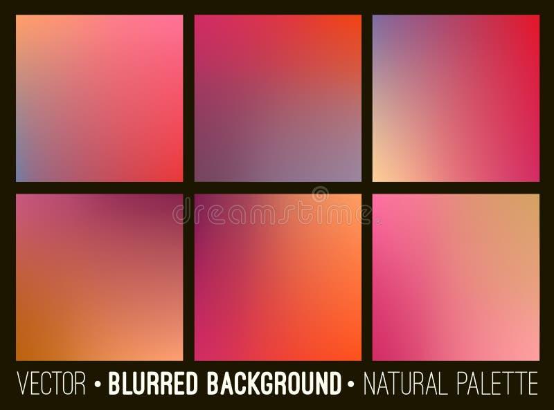 Collection abstraite brouillée de milieux Conception douce de calibre pour les bannières créatives de Web de décor et l'interface illustration de vecteur
