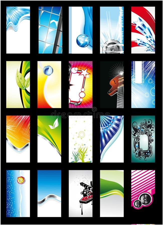 Collection abstraite de carte de fond - positionnement 1 illustration stock