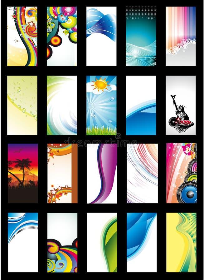 Collection abstraite de carte de fond - positionnement 3 illustration libre de droits