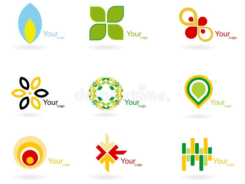 Collection abstraite de logo illustration stock