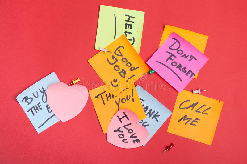 Download Collection Of Adhesive Notes Stock Image - Image: 26417231