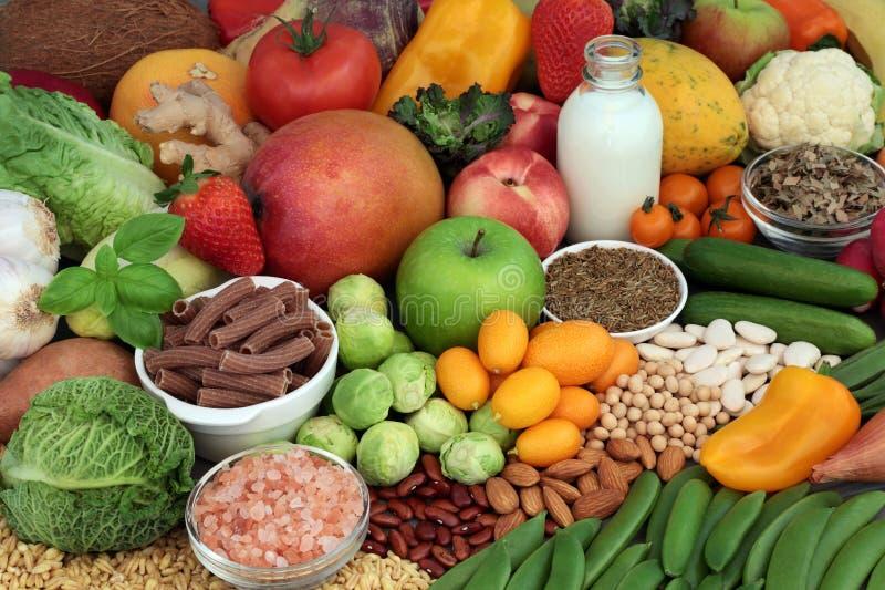 Collection alcaline saine de nourriture images libres de droits
