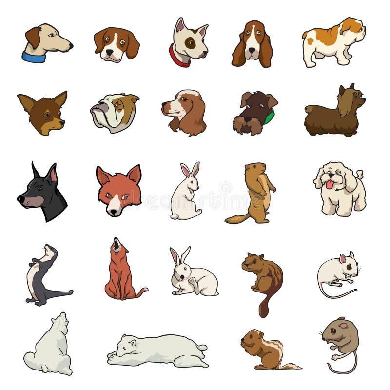 Collection animale aléatoire illustration de vecteur