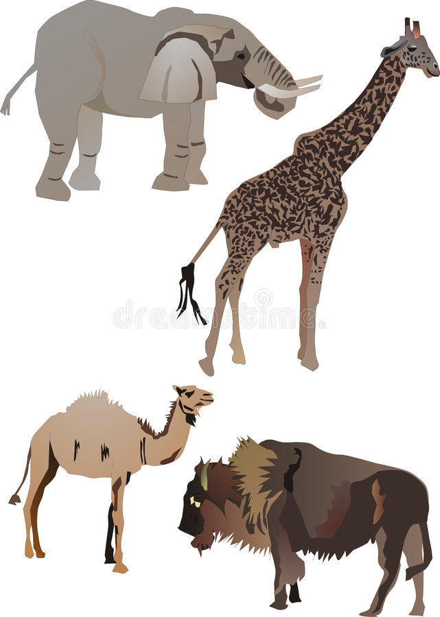 Download Collection of animals stock vector. Image of bison, sketch - 2753884