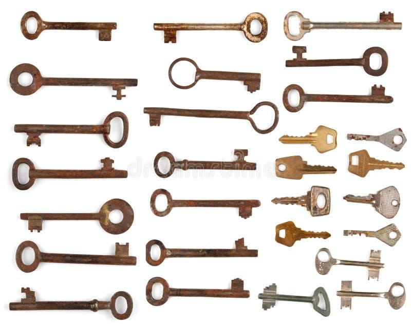Download Collection antique keys stock illustration. Image of background - 25719443