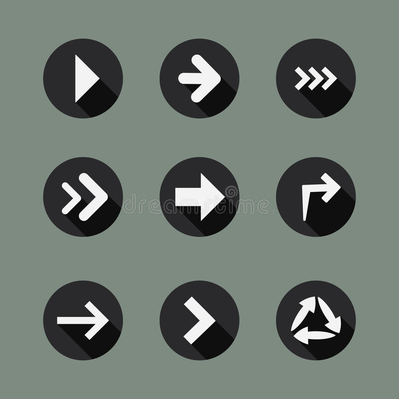Download Collection of Arrow Icons stock vector. Image of circular - 32587274