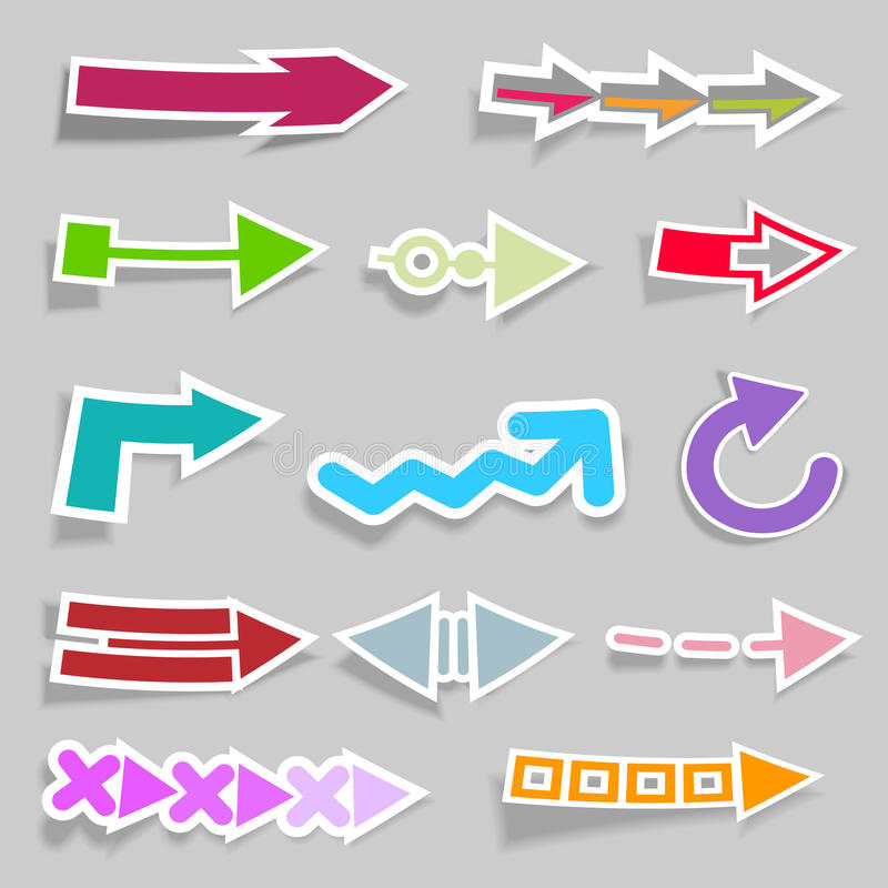 Download Collection of arrows stock vector. Illustration of vector - 23180577