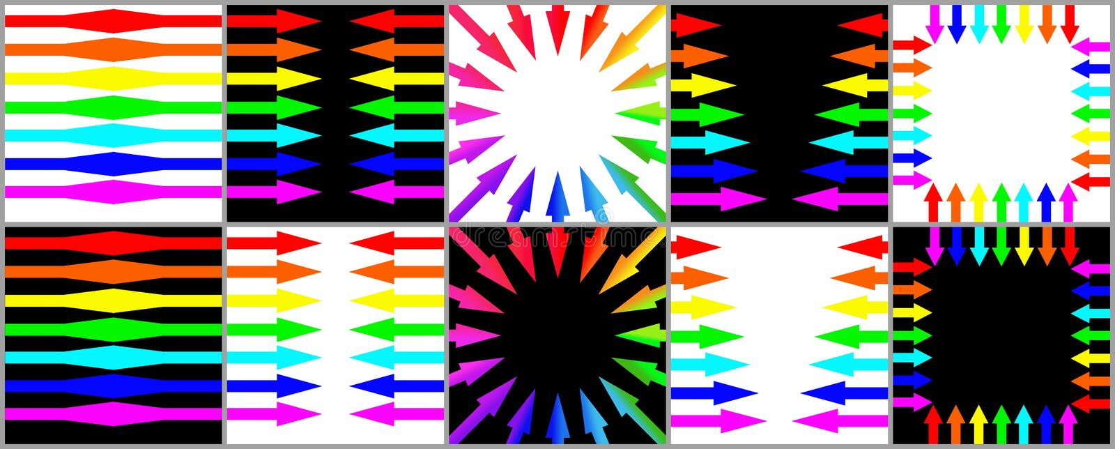 The Collection Of The Arrows Royalty Free Stock Image