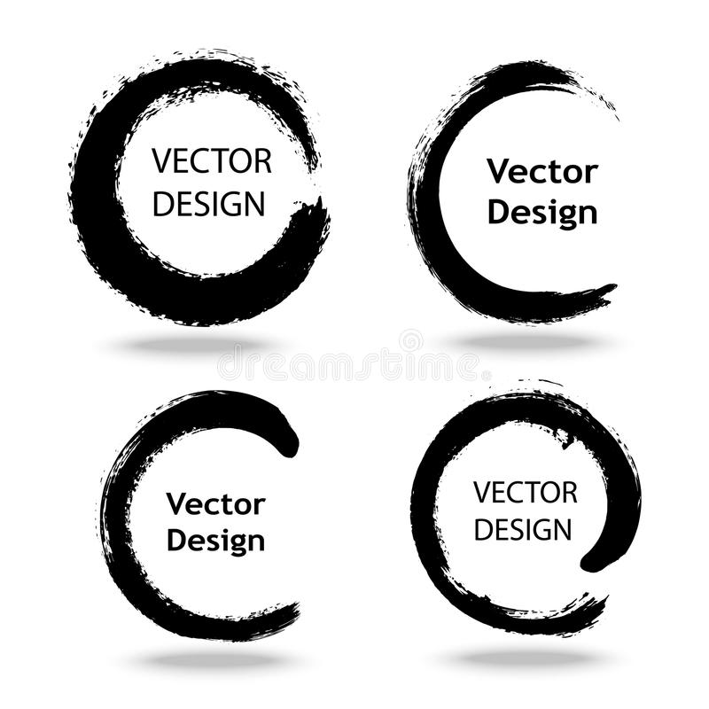 Collection Of Zen Logo Stock Vector. Illustration Of
