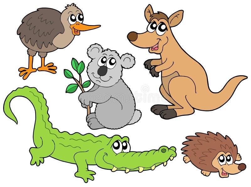 Collection australienne d'animaux illustration libre de droits