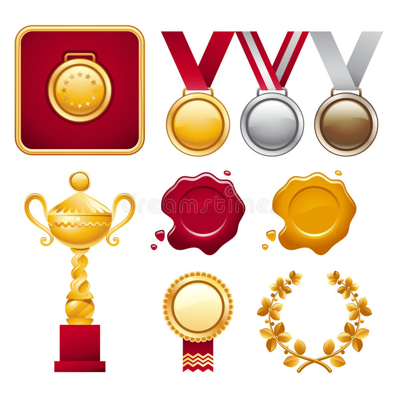Collection of Awards stock photography