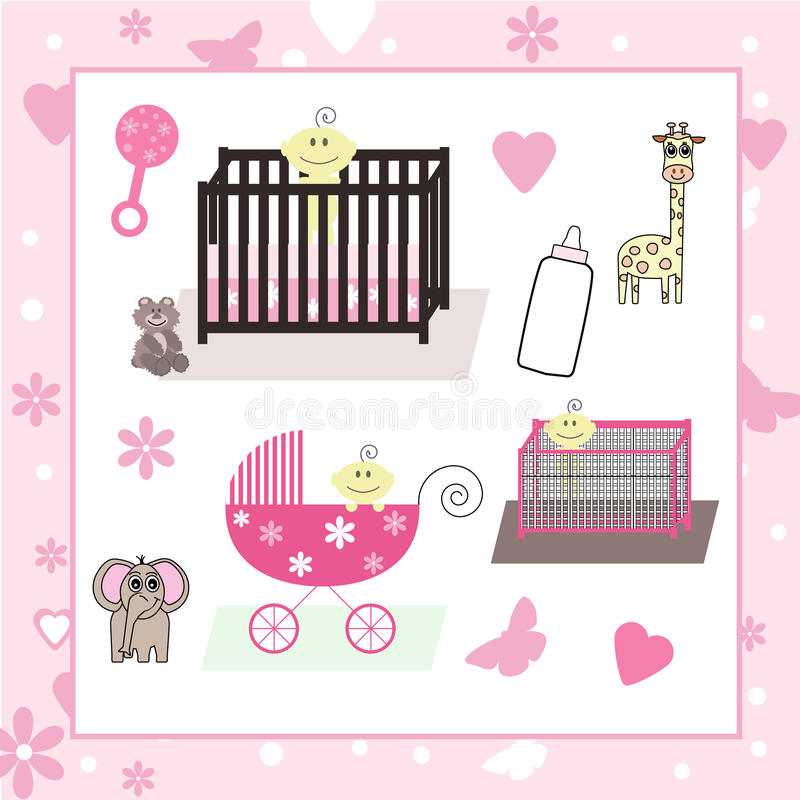 Download Collection Of Baby Girl & Animal Vectors Stock Images - Image: 18178724
