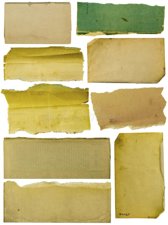 Collection banner paper textured backgrounds royalty free stock image