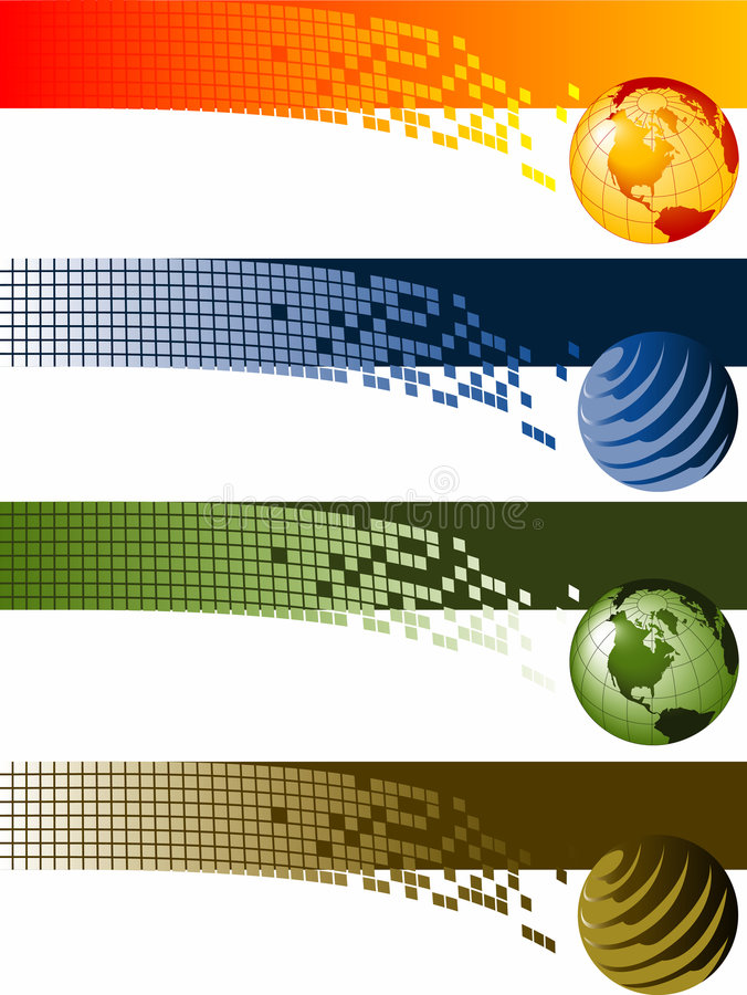Collection of banners vector illustration
