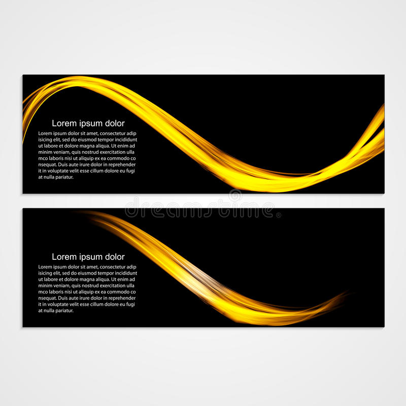 Collection banners modern wave design. Colorful background. royalty free illustration