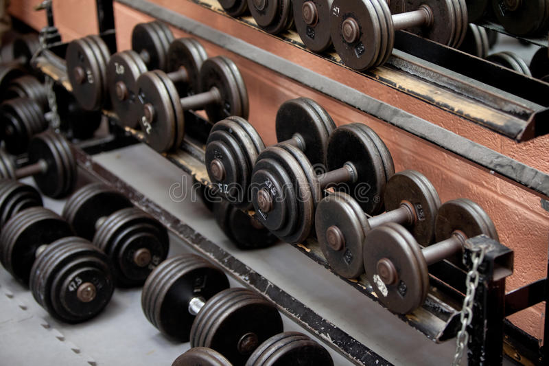 Collection Of Barbells Stock Photo