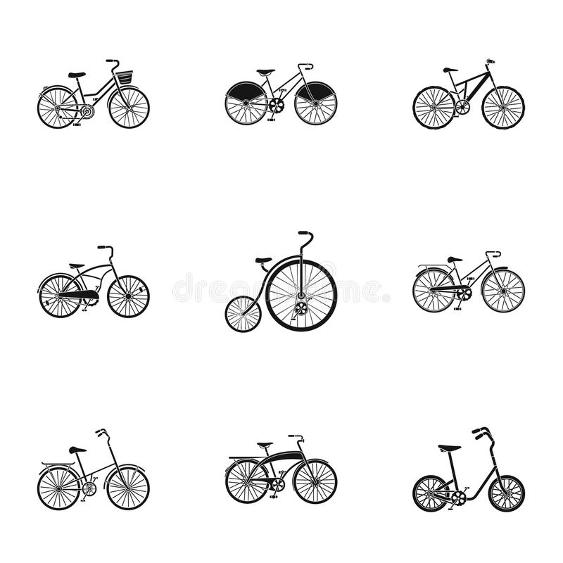 Collection Of Bikes With Different Wheels And Frames. Different ...