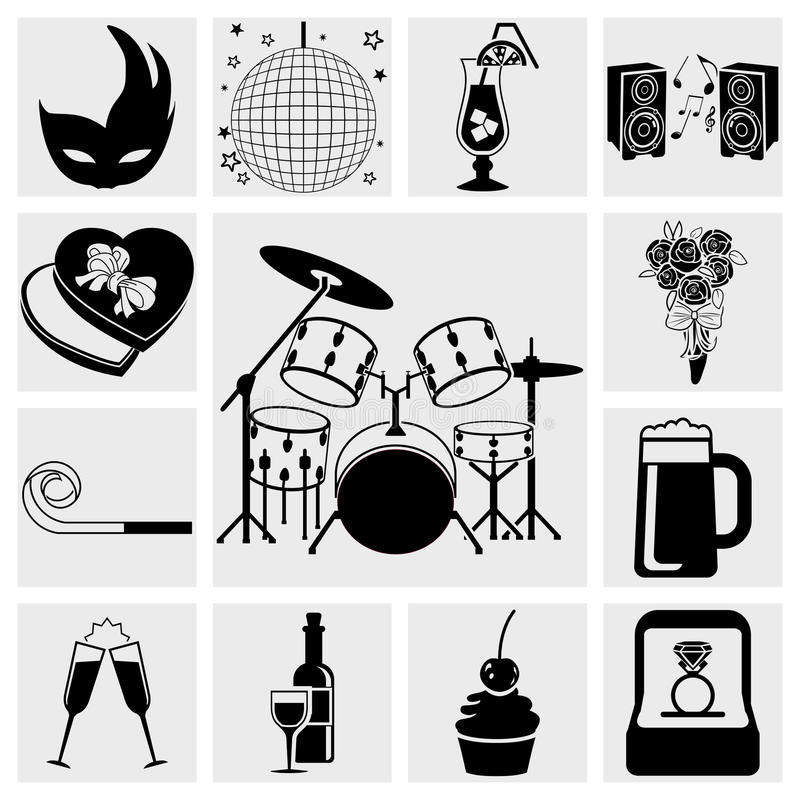 Download Icons Set Birthday, Celebration And Party Stock Images - Image: 30111134