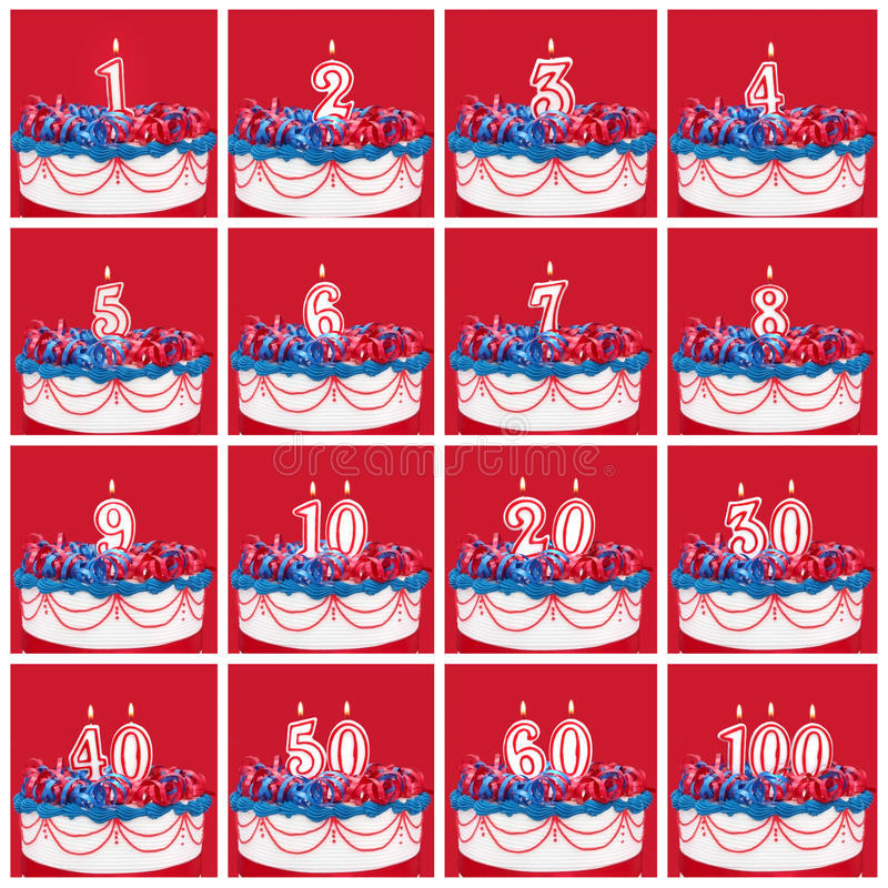 Download Collection Of Birthday Number Candles Stock Image - Image: 31734817
