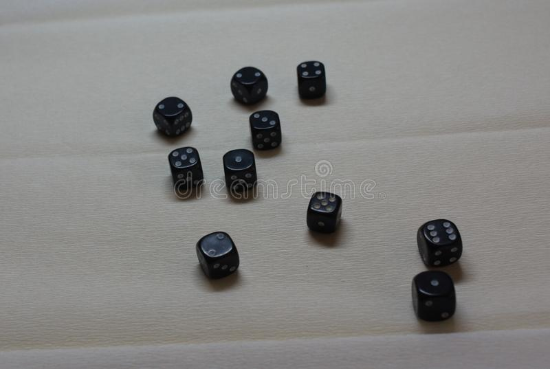 A collection of black d6 stock photography