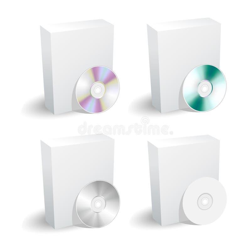 Collection blanc de cadre et de dvd illustration stock